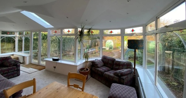 A conservatory living room can be achieved with a solid conservatory roof 2