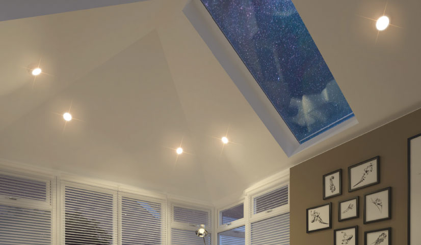 guardian warm roof with a skylight provides a great ambiance to your converted conservatory