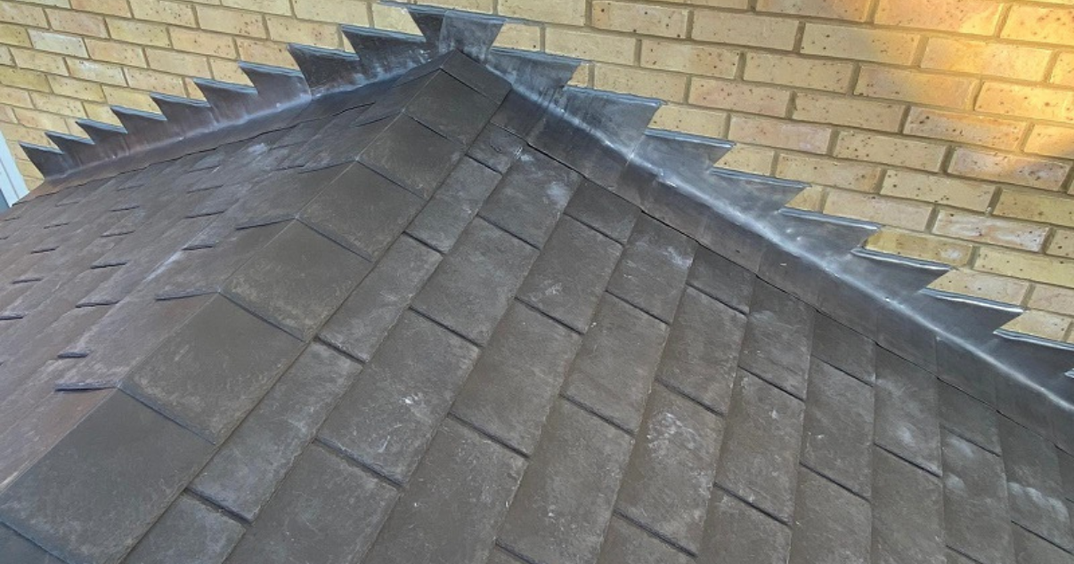 Black conservatory roofing tiles