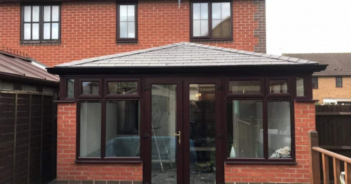 Mr and Mrs. B chose a local conservatory roofing installer