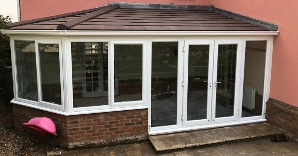 Conservatory after conservatory conversion with added value.