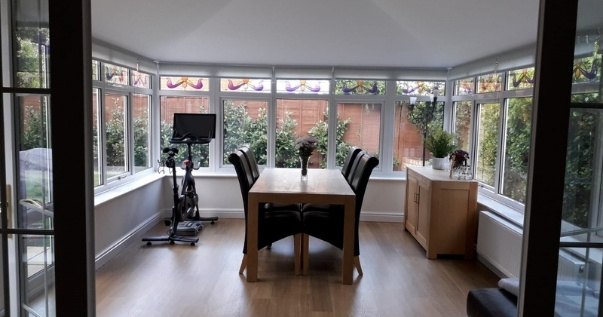 Family undergoes a conservatory conversion by implementing Guardian Warm Roof to keep them cool in summer.