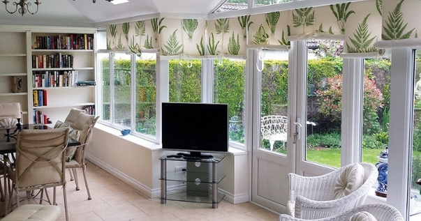 Home office and social life all in one with a converted conservatory. (1)