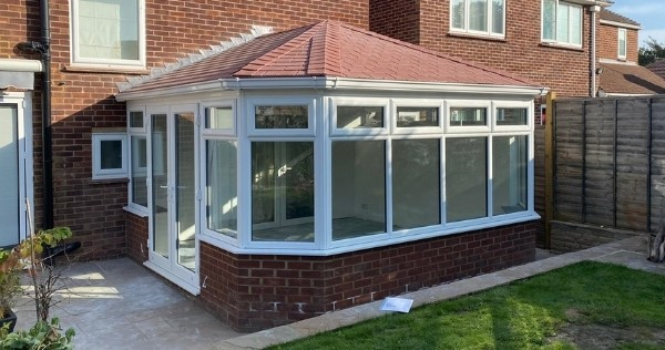 roof tiling available in several colors as a beautiful conservatory upgrade