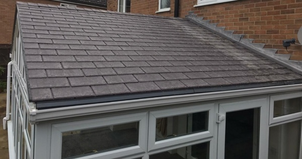 conservatory roof tiles on a converted conservatory roof large selection