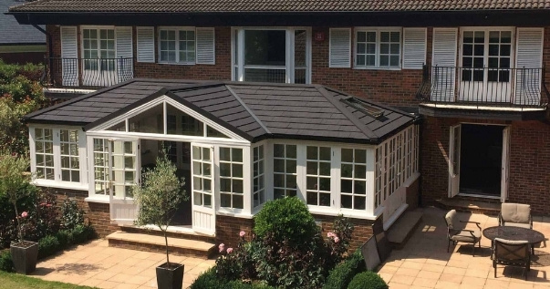 Highly valued conservatory, after a conservatory roof conversion.